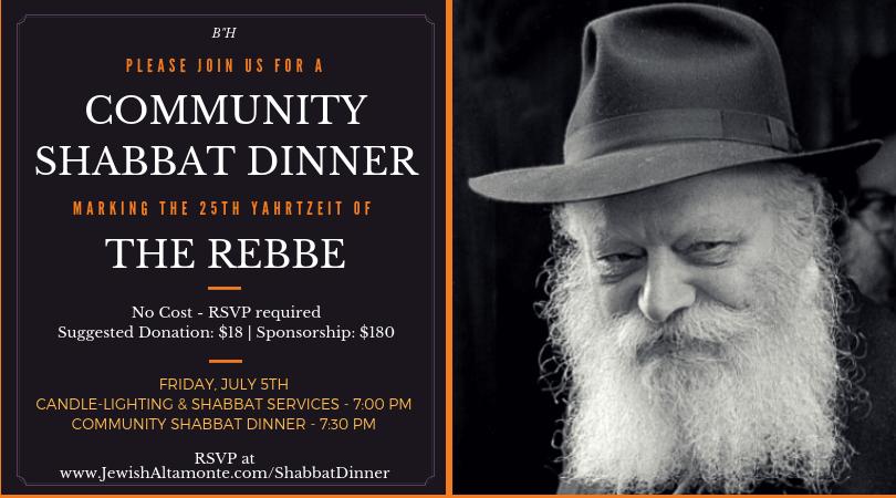 Community Shabbat Dinner - Chabad of Altamonte Springs