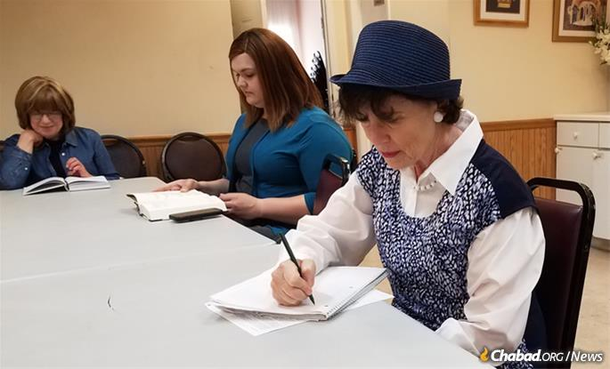 Participants go over the Tanya line by line to master its message. The classes are also recorded and posted on Chabad.org.