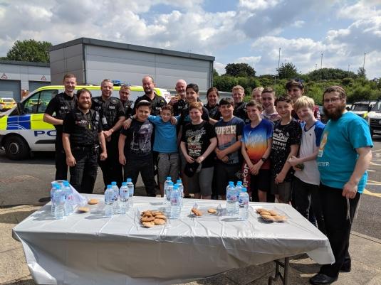 cteen volunteers with Bury Police.jpg