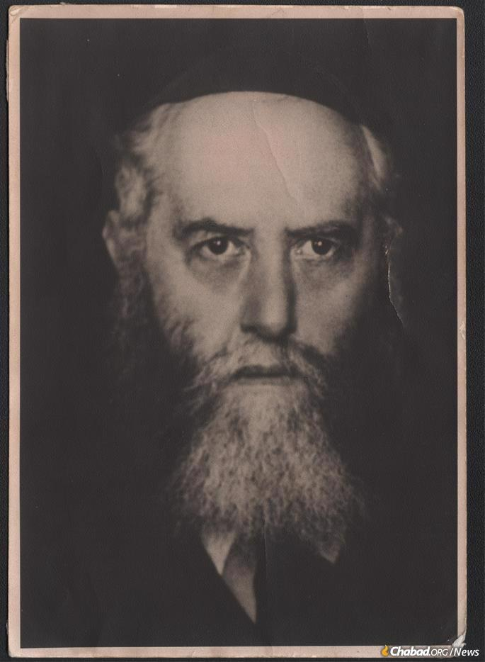 The portrait of Rabbi Yosef Yitzchak that Rabbi Azriel Chaikin recalls in their home in Tbilisi, Georgia. This photo appears to have originated in Riga, Latvia, and so its path into the Soviet Union would have been surreptitious. (Courtesy: Rabbi Azriel Chaikin)