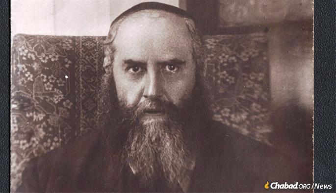 The Sixth Rebbe, Rabbi Yosef Yitzchak Schneersohn, in 1927, around the time he left the Soviet Union for the last time.