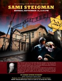 An Evening with Holocaust Survivor - Sami Steigman