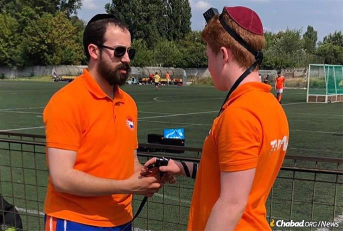 Rabbi Yanki Jacobs, who co-directs Chabad on Campus in Amsterdam, was invited to be spiritual coach to the Netherlands national team at the European Maccabi Games in Budapest.