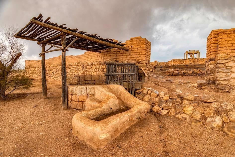 The entrance to Biblical Tel (Be'er) Sheva, replete with walls, gate—and a deep well outside the gate so visitors and animals could easily obtain water: signs of both security and hospitality. (Credit: Seth Aronstam)