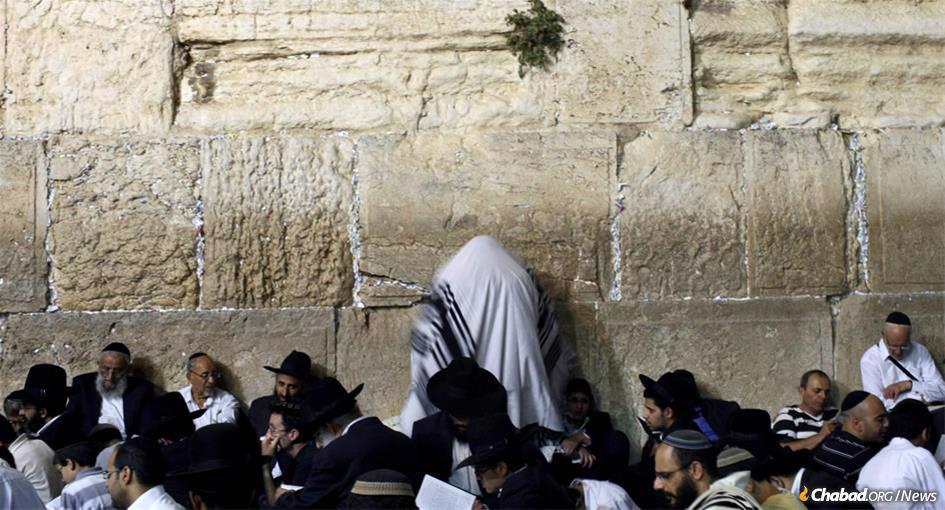 Tisha B'Av at the Kotel in Jerusalem (Photo: Kobi Gideon/Flash90)