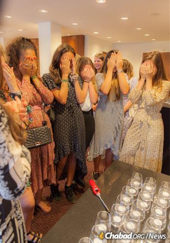 Welcoming the Shabbat.