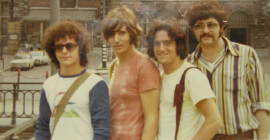 The author, second from left, with friends in Amsterdam, 1970.