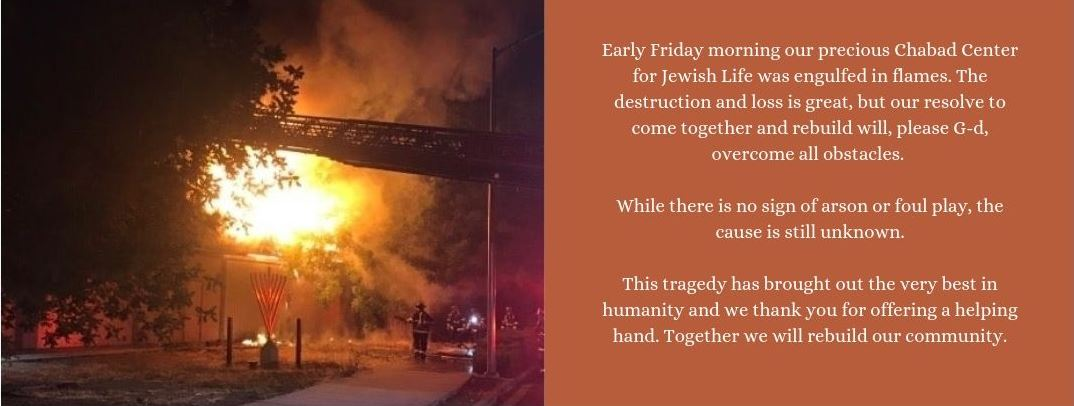 Fire at Chabad - Chabad of the Tri-Valley
