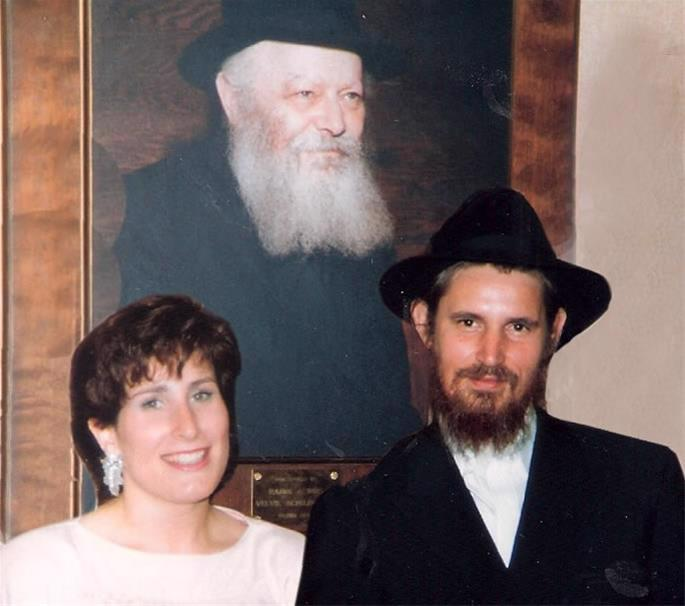 At wedding with Chaya Esther Ort. Toronto, 1987