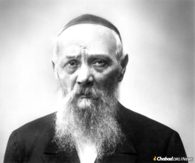 A portrait of Rabbi Levi Yitzchak Schneerson, the Rebbe's father, circa 1939 (Kehot Publication Society).
