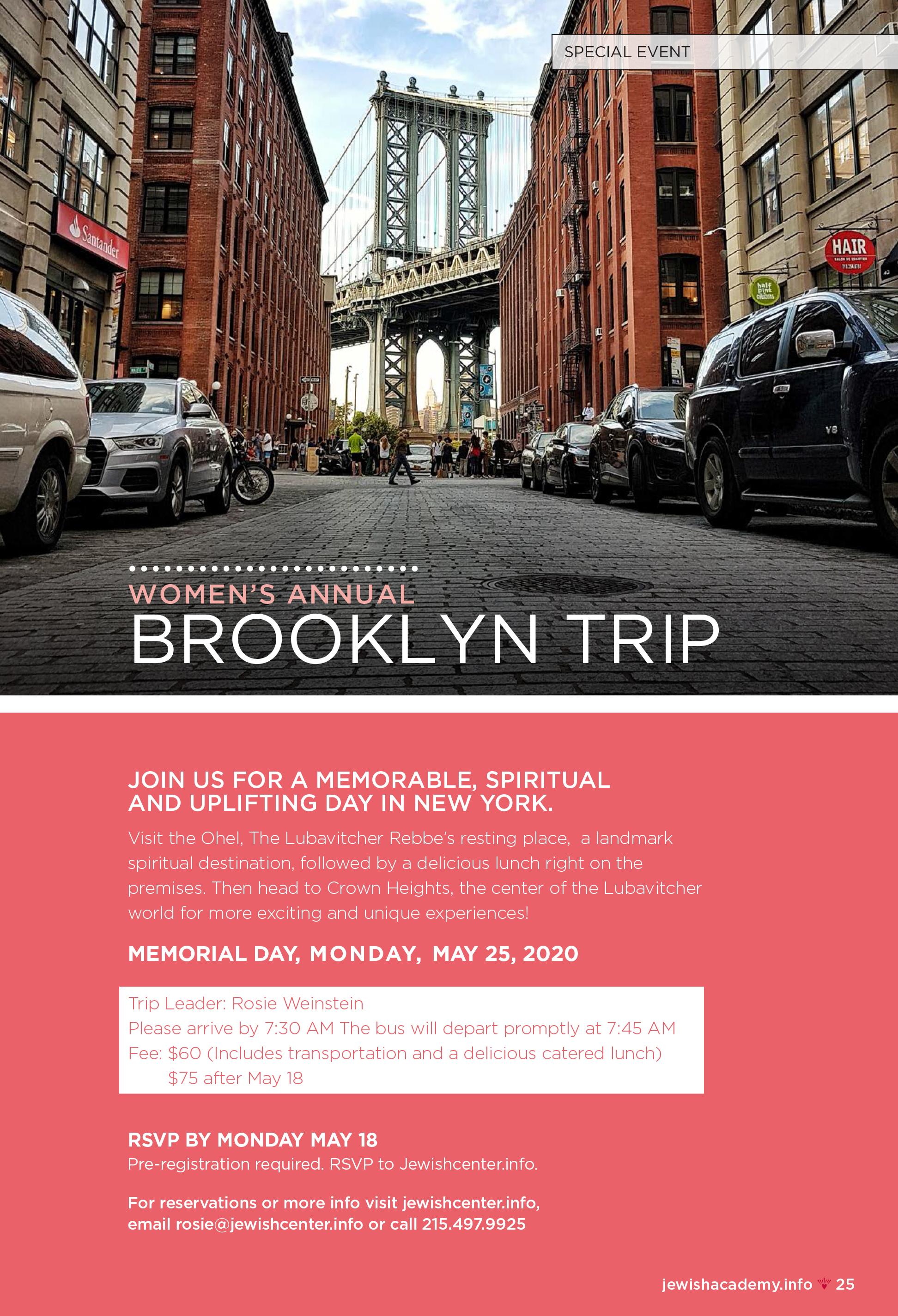 Women's Annual Brooklyn Trip
