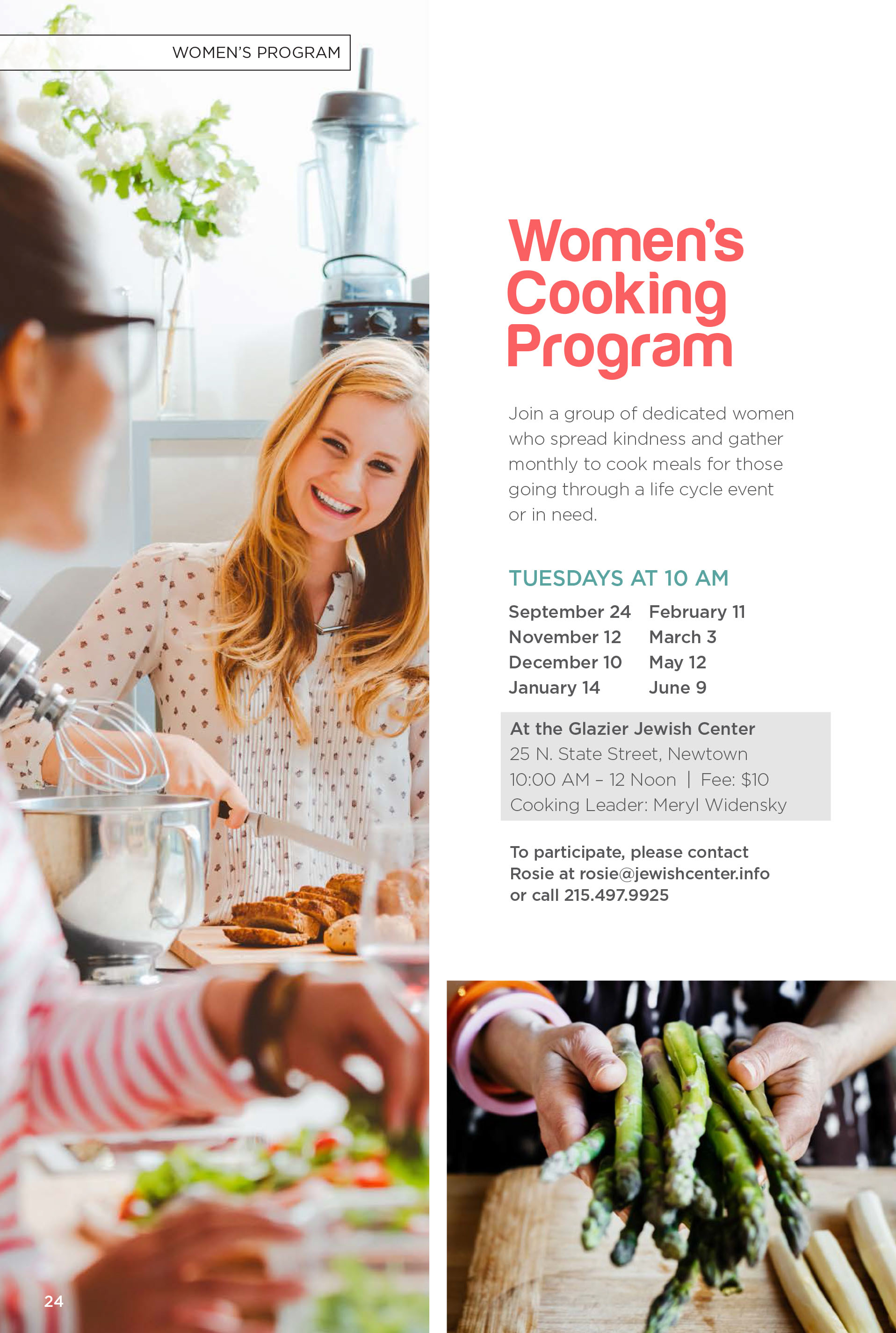 Women's Cooking Program