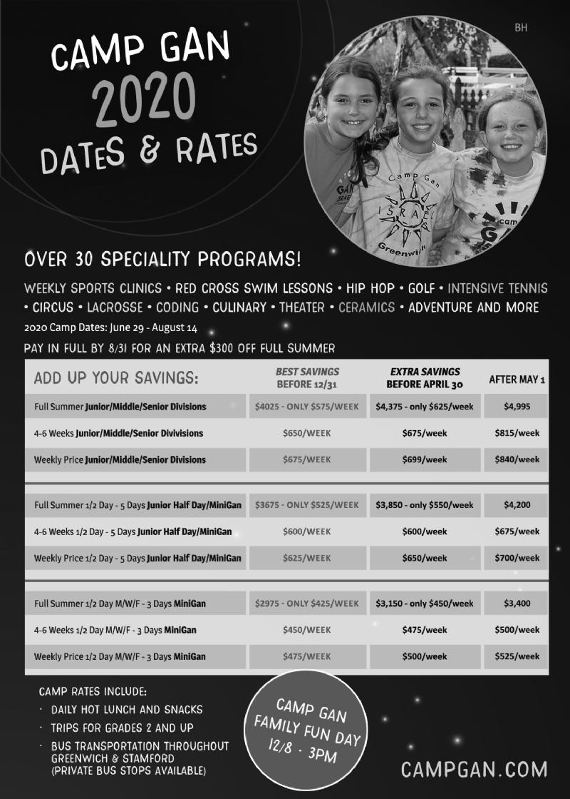 2020 Dates/Rates