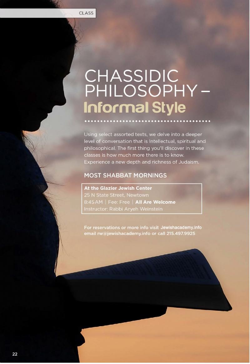 Chassidic Philosophy: Informal Style