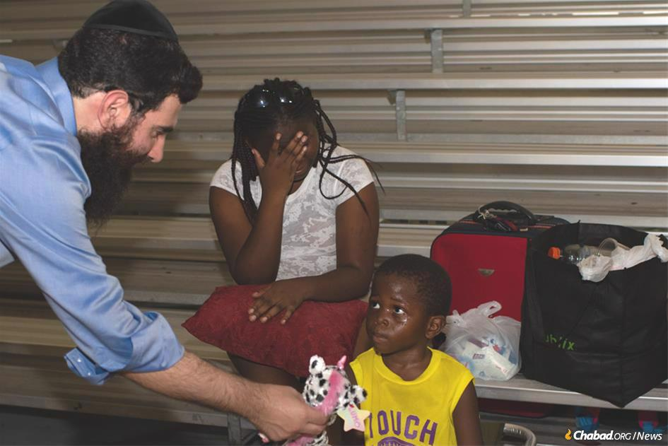 Rabbi Sholom Bluming is coordinating shipments of food, water, toys and more from Jewish communities around the world to those in the Bahamas devastated by Hurricane Dorian.