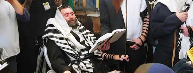September 2019: Rabbi With ALS Travels 3,000 Miles for Son's Bar Mitzvah in New York