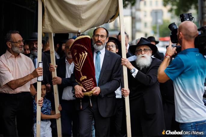 With the Torah on the streets of Bratislava