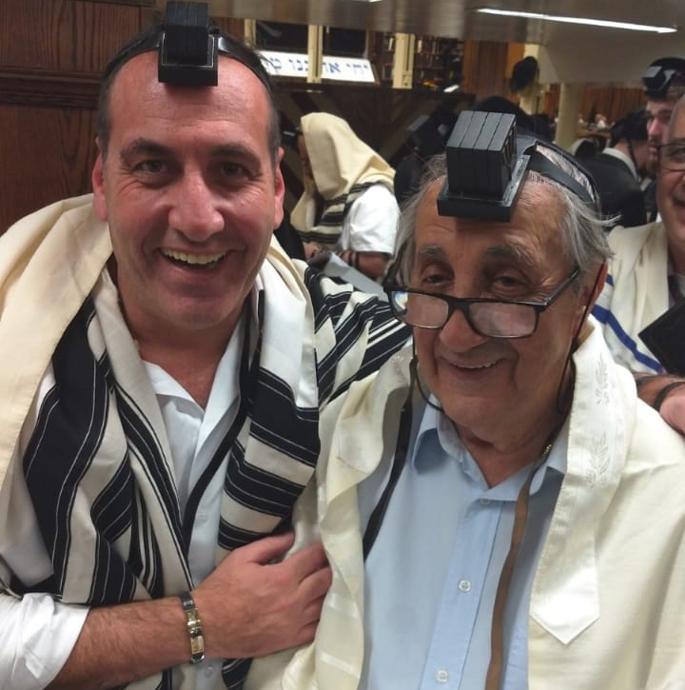 Sidney Efraim com seu pai Clemente