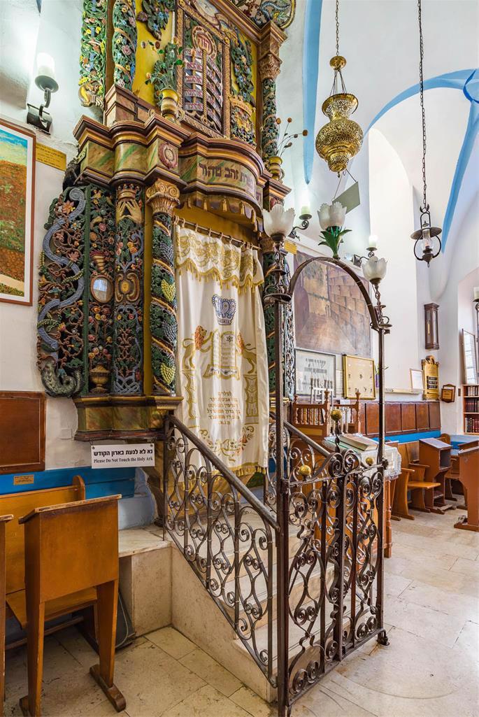 The unique Holy Ark (aron) of the Ari Ashkenazi synagogue.