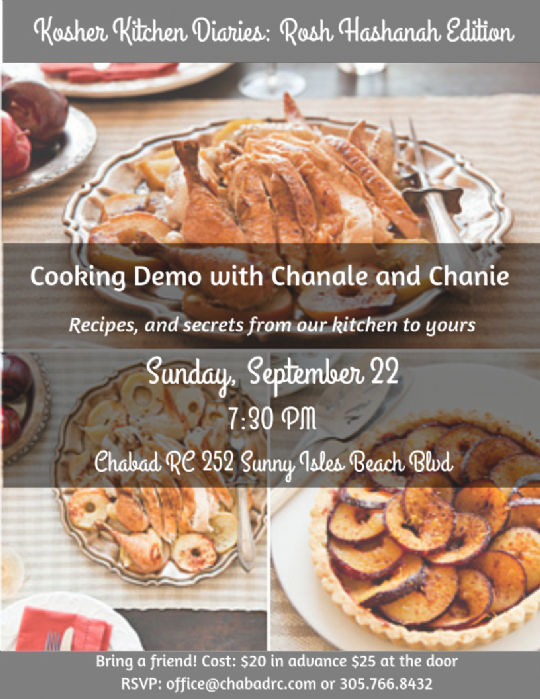 Kosher Kitchen Diaries With Chani And Chanale Chabad