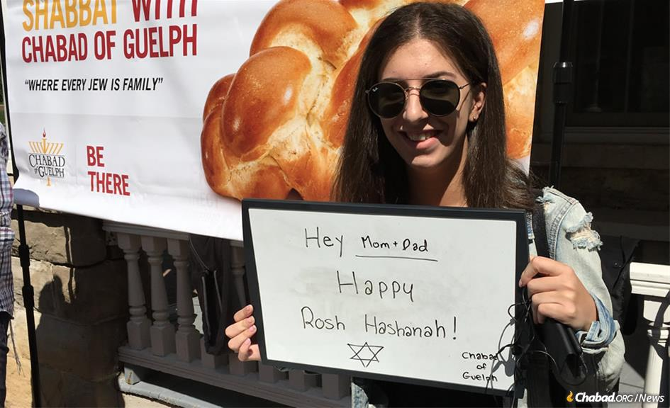 Students and residents in Guelph, Ontario, are looking forward to spending meaningful time together on Rosh Hashanah.