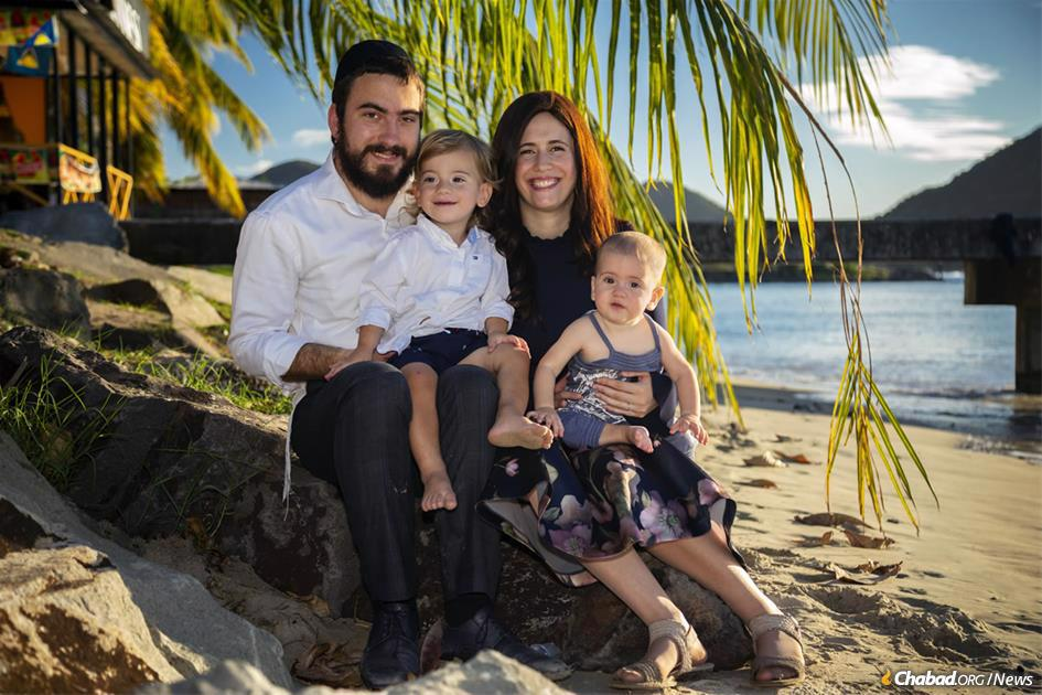 Rabbi Avromy and Sternie Super, and their young children, recently moved to the Caribbean to open Chabad of St. Lucia.