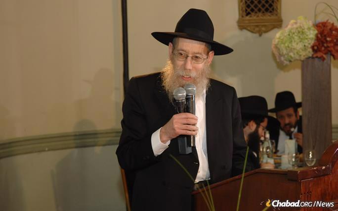 Katzen speaking at a grandson's bar mitzvah.