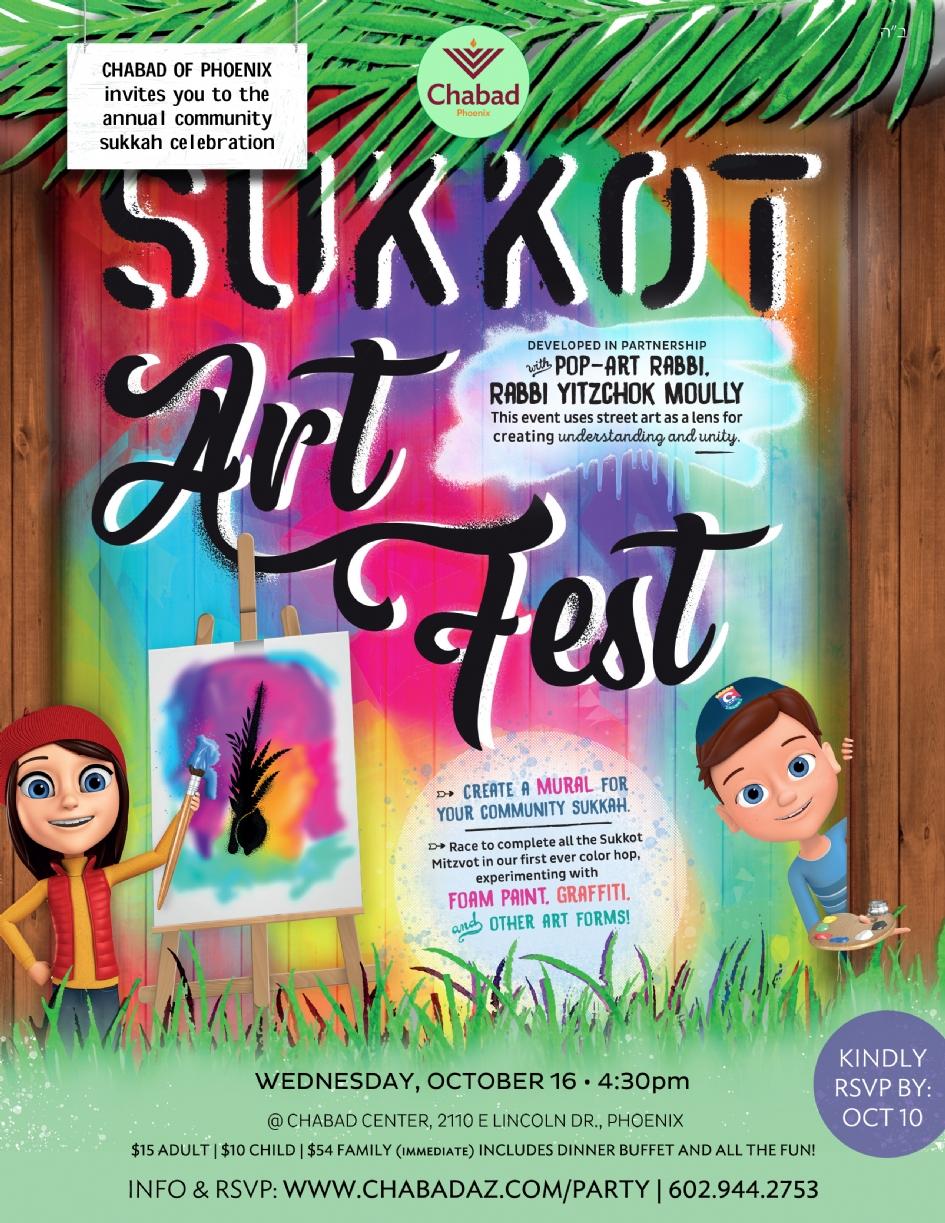Sukkot Art Fest Community Party @ Chabad Phoenix