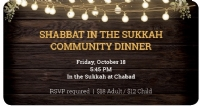 Shabbat in the Sukkah!