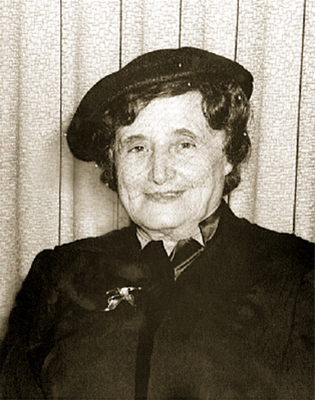 The Rebbetzin in her later years.