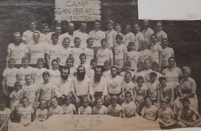 First year of Camp Gan Israel Montreal. Sara is sitting, first on right, second row from bottom. Her Husband, Rabbi Herschel, is sitting in the center second row, with Rabbi Berel Mochkin.
