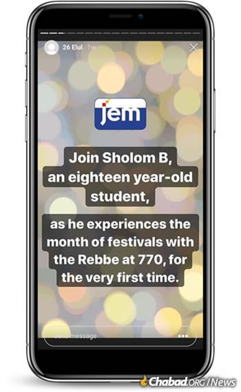 The broad awareness and global participation that would have resulted had someone been able to simply broadcast his or her experience on social media of being with the Rebbe during Tishrei would have been truly remarkable.