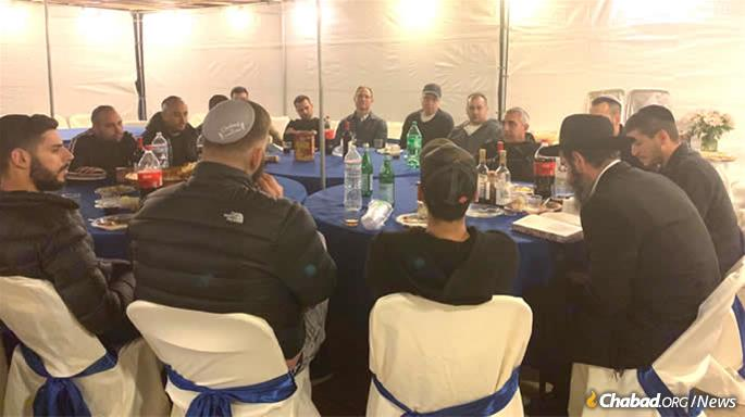 """This year, the eve Hoshana Rabbah, Saturday October 19th, marked two years after the start of the class, and one year since Cohen's father's first yahrtzeit. Having completed the entire Tractate of Berachot, we held a special completion ceremony in the Sukkah to honor Inon's father's legacy. """""""