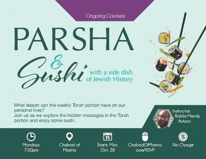 Parsha & Sushi