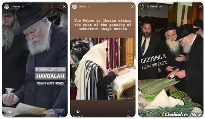 """Tishrei in the Moment"" aims to make the experience of Tishrei with the Rebbe relatable, engaging, far-reaching and interactive. This creative project intends to share the profound experience of being by the Rebbe during the month of Tishrei in a ""real time"" technological manner."