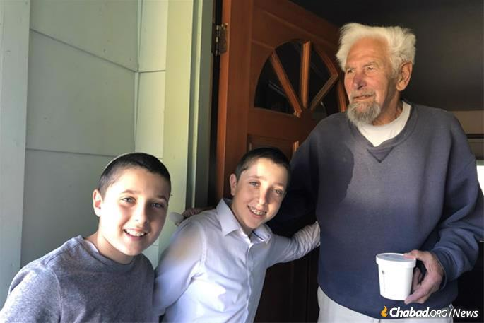 With power outages also impacting residents in Santa Rosa, the Wolvovsky children did their part to help out, delivering hot soup to neighbors who had no electricity.