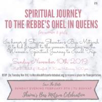Women's Spiritual Experience - Trip to the Ohel