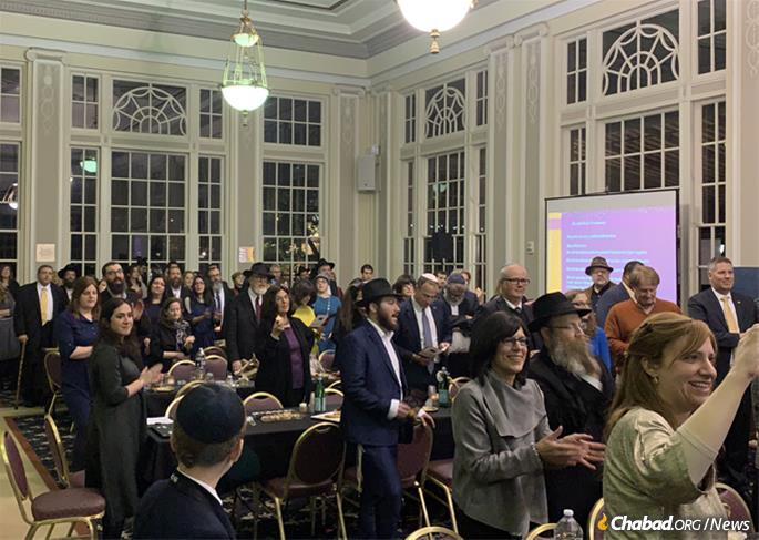 The Pittsburgh event was designed to continue to boost student morale and honor the school's chancellor, Patrick Gallagher, who galvanized the university's counseling staff beginning on the day of the tragedy to provide services to traumatized students and others at the Chabad center.