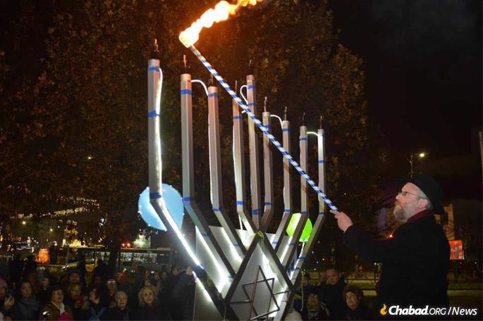 Preparations are already underway for this year's public menorah-lighting ceremony and celebration in Bucharest.