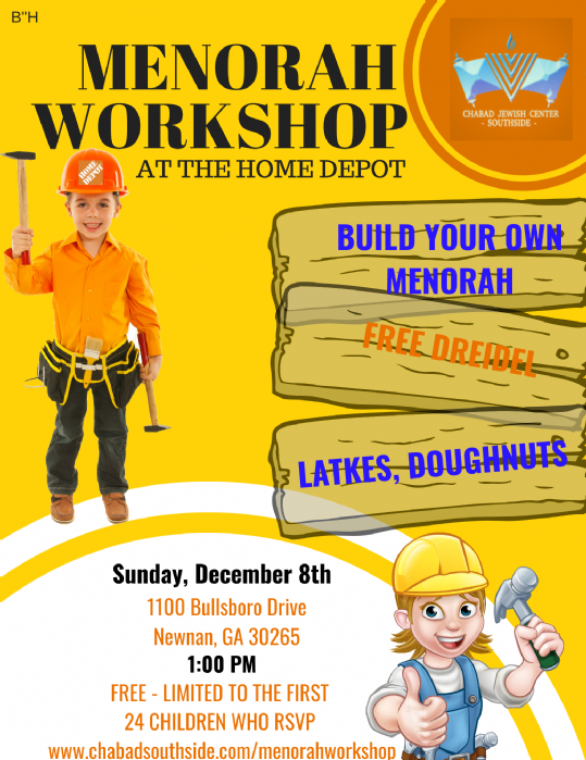 Menorah Workshop At Home Depot Chabad Of Peachtree City