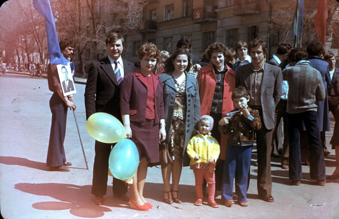 My first May 1st Parade, held by the Soviet Union in every city of the country.