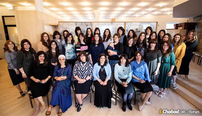 Some of the 75 women who serve as as Chabad emissaries throughout Illinois (Photo: Shaina Benhiyoun)