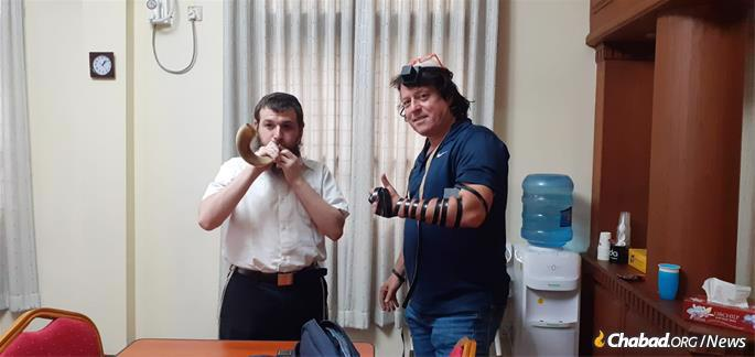 Shofar and tefillin during the month of Elul.