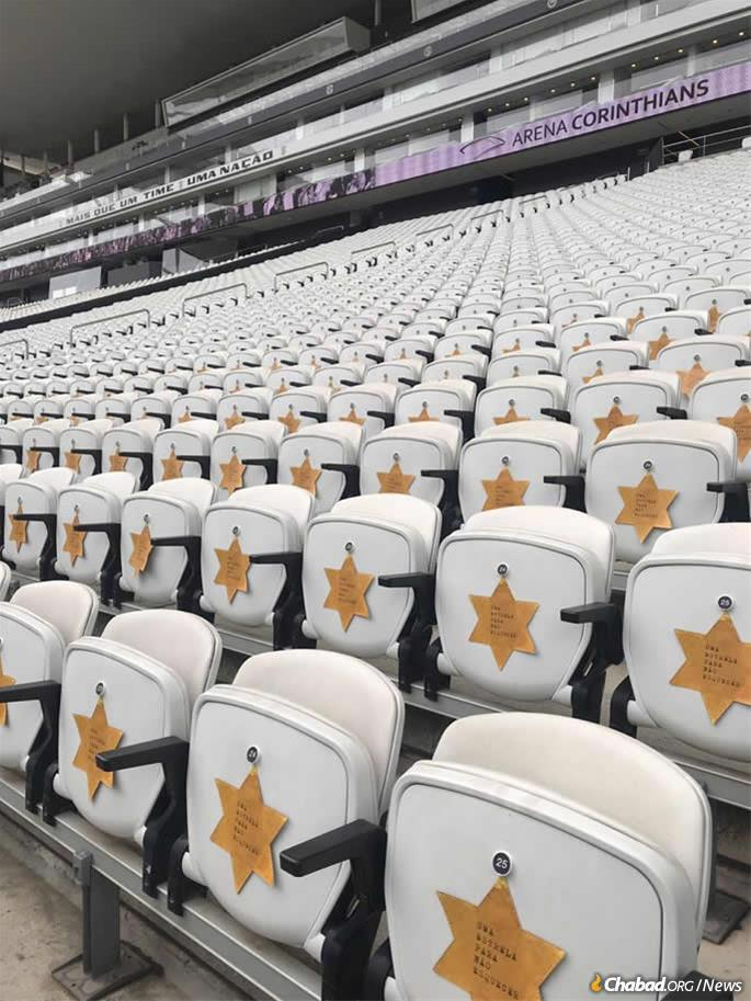The countrywide awareness about the Holocaust has been heightened in recent years. Recently, the Corinthians, one of Brazil's most popular soccer teams, wore Stars of David on their jerseys to commemorate Kristallnacht. A commemorative message was affixed to the seats in the stadium.