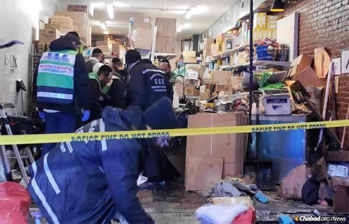 JC Kosher Supermarket was completely gutted in the attack. It was the family's only source of income.