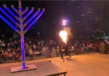 Glow Chanukah at Arts Park -2019
