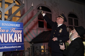 Outdoor Menorah Lighting 2019