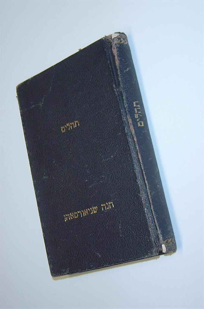 Among the precious belongings Rebbetzim Chana brought to her husband was her Tehillim (Book of Psalms), from which he would pray for hours.