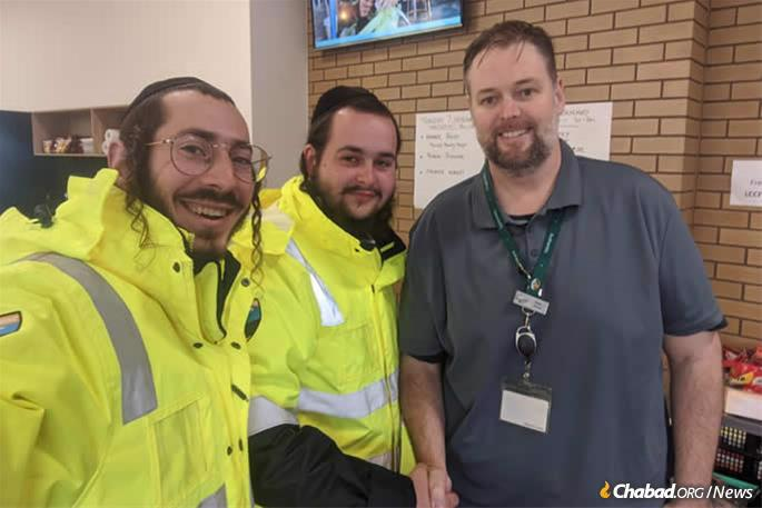 Volunteers from Chabad of RARA help residents, firefighters and rescue workers.