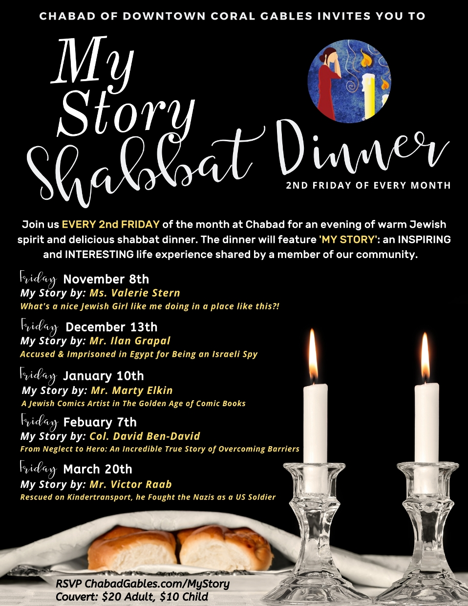 My Story Shabbat Dinner